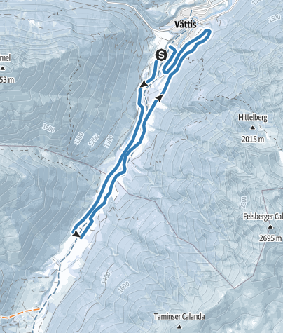 Karte / Langlauf-Loipe Vättis-Kunkels