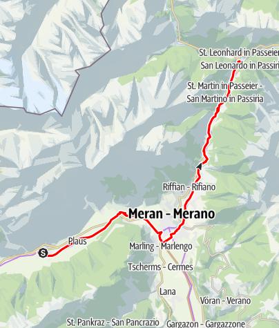 Map / Leisure biking tour into Val Passiria