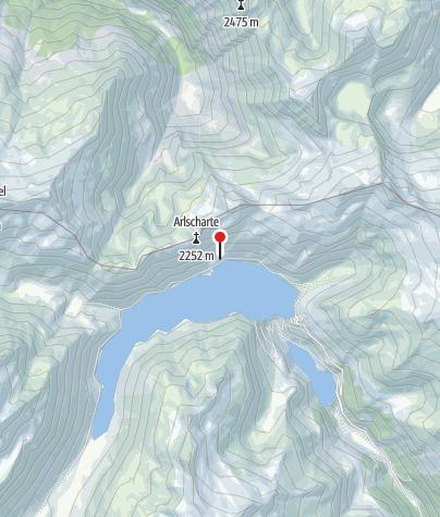Karte / Jägersteighütte, 1.981 m