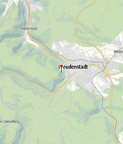 Karte / Blick auf Freudenstadt