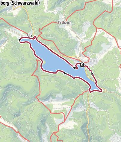 Kaart / Seerundweg Schluchsee
