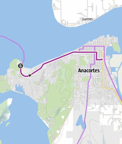 Map / Anacortes Ferry Terminal to Skagit Cycle Center