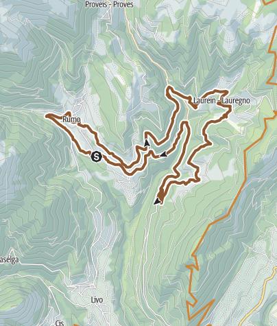 Cartina / Tour 1432 - Collegamento Rumo – Lauregno: a cavallo del confine linguistico e culturale