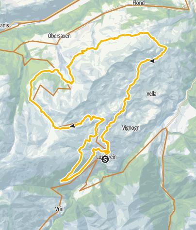 Karte / Bike Marathon Lumnezia-Obersaxen