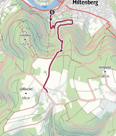 Karte / Von Miltenberg nach Monbrunn und retour