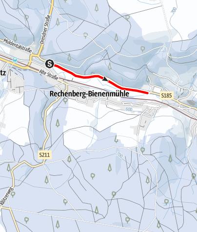 Karte / Winterwandern - Von Bienenmühle zum Ökobad in Rechenberg