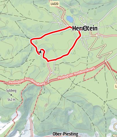 """Térkép / Zum Steindenkmal """"Guggersteine"""""""
