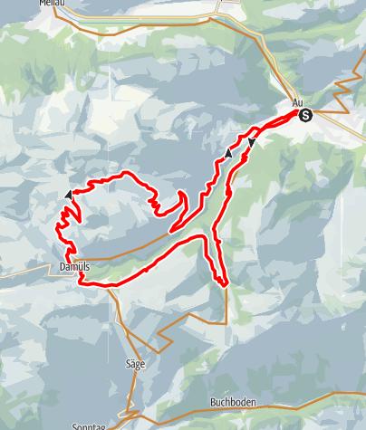 Karte / Au-Schoppernau   Damülser-Runde