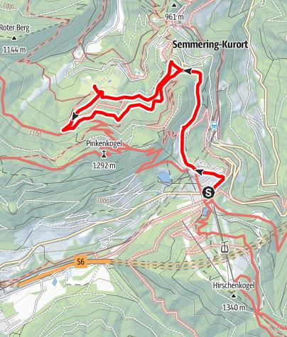 Térkép / Semmering Meierei - Golfplatzwanderung