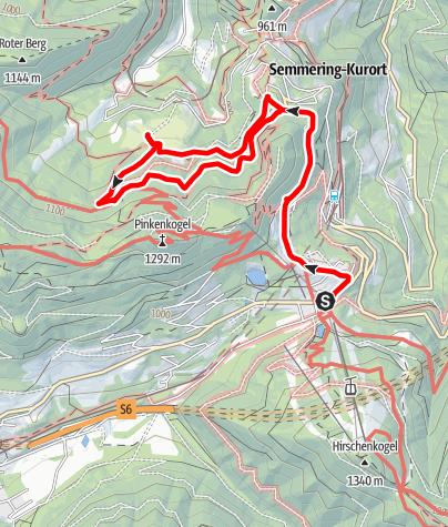 Mapa / Semmering Meierei - Golfplatzwanderung