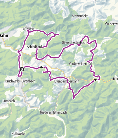 Karte / Raubritter-Tour