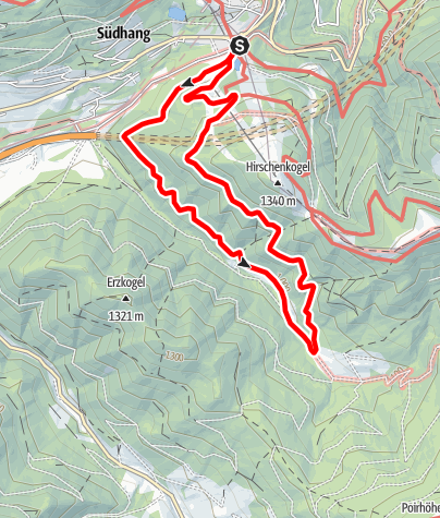 Mapa / Semmering Johannespromenade