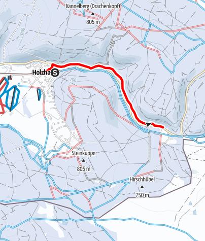 Karte / Winterwandern - Von Holzhau zum Teichhaus