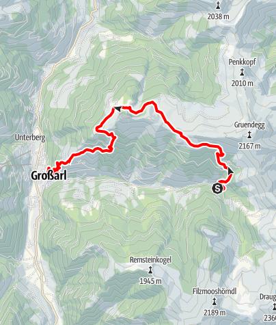 Map / Grossarl: Ellmaualm - Saukaralm - Gerstreitalm