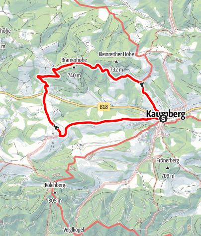 Mapa / Hirschweg