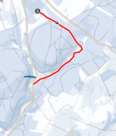Karte / Winterwandern - Vom Kleinen Vorwerk zur Jugendherberge Mortelgrund