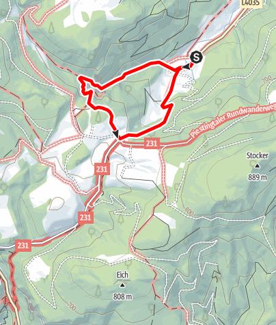 Map / Auf Stegen, Brücken und Leitern und durch Höhlen durch die romantische Steinwandklamm