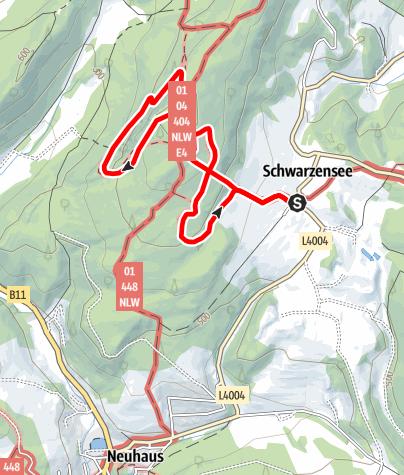 Mapa / Rund um das Klettereldorado der Wiener, die Peilsteinrunde
