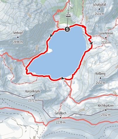 Karte / Rund um den Lünersee mit Abstecher zur Lünerkrinne