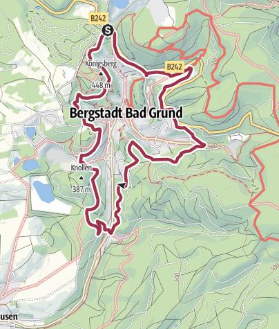 """Karte / """"König-Hübich-Route"""" um Bad Grund"""