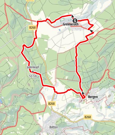 Karte / Traumschleife Greimerather Höhenweg