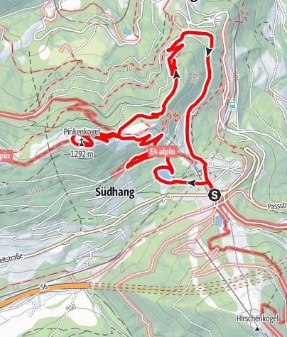 Karte / Semmering Pinkenkogelrunde
