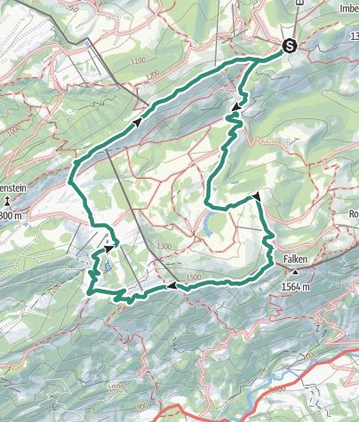 Map / Überschreitung des Hohen Häderich