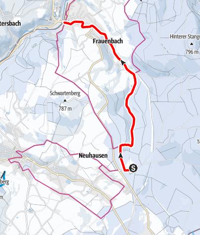 Karte / Winterwandern - Von Seiffen nach Neuhausen
