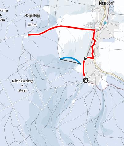 Karte / Winterwandern - Von der Vierenstraße zur Siebensäure in Sehmatal-Neudorf