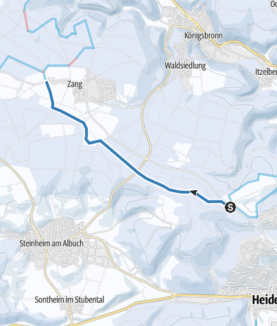 Karte / Asang- Zang- Verbindungsloipe 6 km