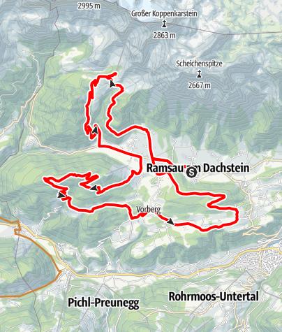 Karte / Ramsau Runde