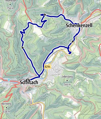 Karte / Schiltach: Kuhbach - Eselgrund - Schenkenburg - Rundweg