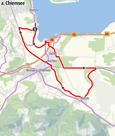 Karte / kulinarischer Radweg – Rottauer Filze (Familientour)