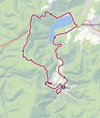 Karte / Rund um den Innerstestausee