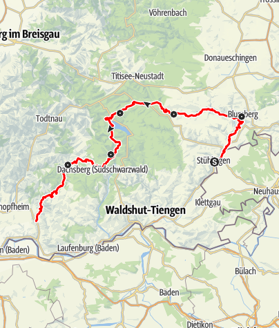 Map / Schluchtensteig Schwarzwald