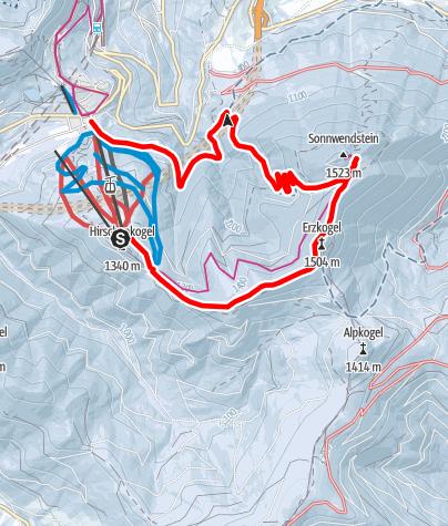 Karte / Semmering Panoramawandern Zauberberg - Sonnwendstein