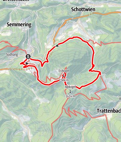 Mapa / Semmering Kummerbauertour