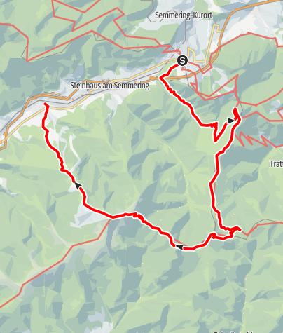 Karte / Semmering - Stuhlecktour