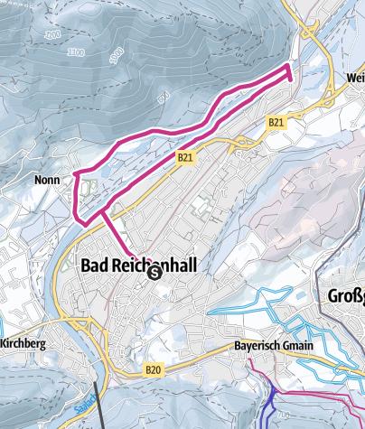 Karte / Winter Park – Wandern zur Saalachau