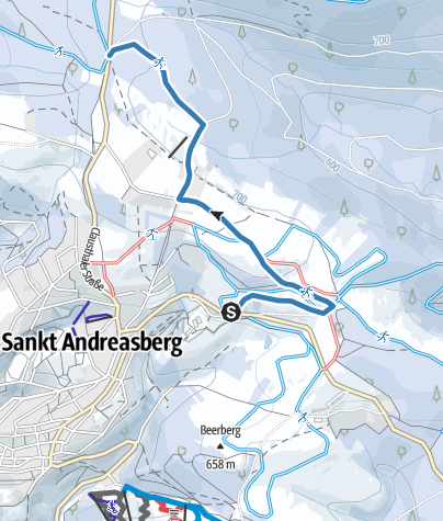 Karte / Loipe Jordanshöhe Dreibrode