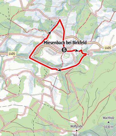 Karte / Wasserweg Miesenbach