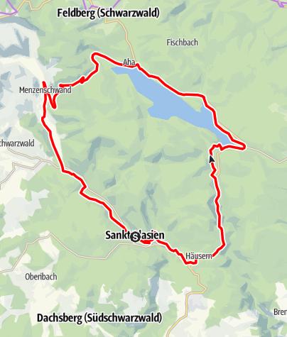 Karte / RouteWT 12 - St. Blasierland-Schluchsee-Tour