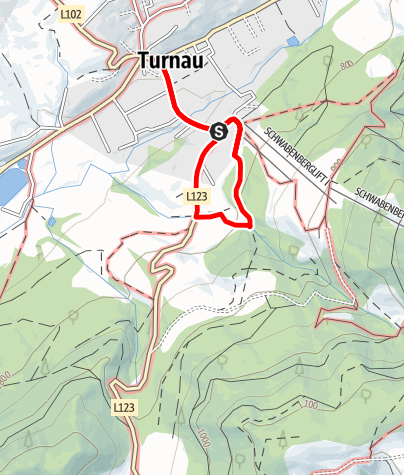 Karte / Vogellehrpfad in Turnau