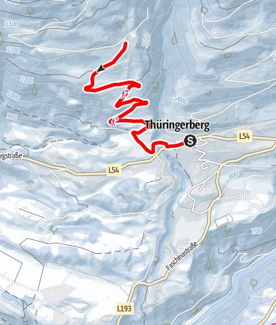 Karte / Winterwanderung Kapiescha   Thüringerberg