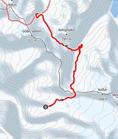Karte / Übergang Silvrettahütte zur Saarbrücker Hütte