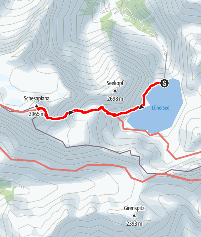 Map / Zum höchsten Gipfel des Rätikon, der Schesaplana