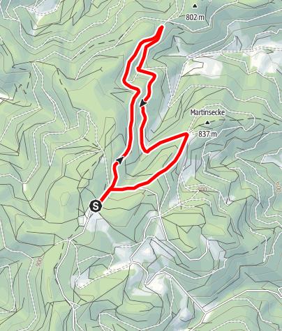 Karte / Hornberg - Hauenstein-Route