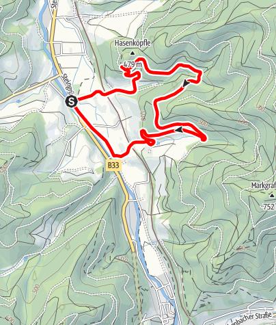 Karte / Gutach - Baumpfad