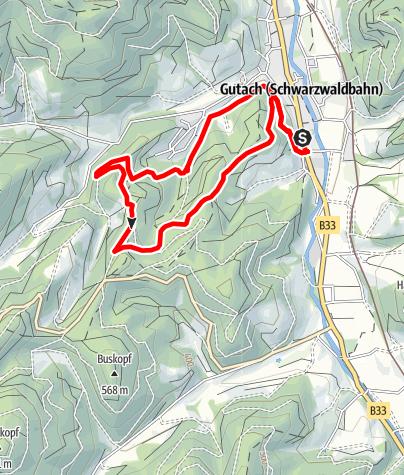 Karte / Gutach - Fuchsloch-Route