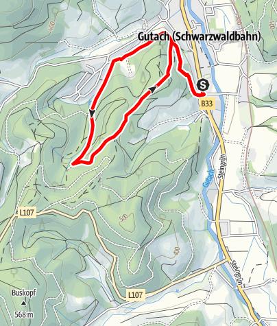Karte / Gutach - Tannengrund-Runde